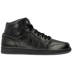 NIKE AIR JORDAN 1 MID M BLACK/BLACK/DARK GREY