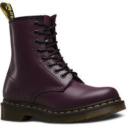 DR. MARTENS W 1460 8-EYE BOOT PATENT SMOOTH PURPLE