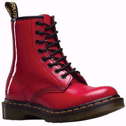 DR. MARTENS W 1460 8-EYE BOOT PATENT RED