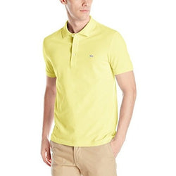 LACOSTE CLASSIC FIT SHORT SLEEVE PIQUE POLO SHIRT DAPHNE YELLOW