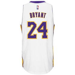 ADIDAS LOS ANGELES LAKERS NBA KOBE BRYANT SWINGMAN JERSEY WHITE