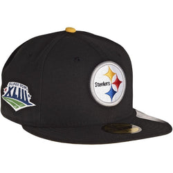 NEW ERA PITTSBURGH STEELERS 59FIFTY NFL XLIII SUPER BOWL FITTED CAP