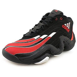ADIDAS M REAL DEAL BASKETBALL SHOES BLACK/RED/WHITE
