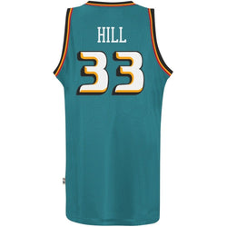ADIDAS DETROIT PISTONS NBA GRANT HILL THROWBACK SWINGMAN JERSEY TEAL