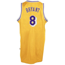 ADIDAS KOBE BRYANT LOS ANGELES LAKERS GOLD THROWBACK SWINGMAN JERSEY