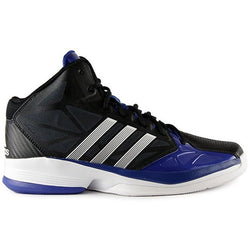 ADIDAS M SHAKE 'EM BASKETBALL SHOES BLACK/RUNNING WHITE/COLIGIATE ROYAL