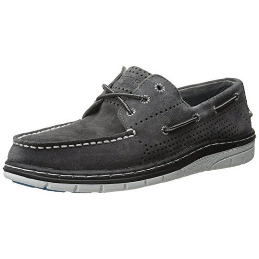 SPERRY M TOP-SIDER BILLFISH ULTRALITE PERF SUEDE BOAT SHOE GREY