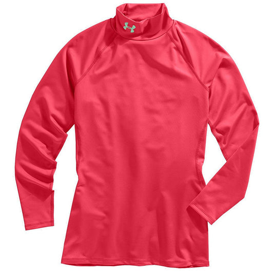 UNDER ARMOUR W GOLD GEAR LONG SLEEVE MOCK TOP CORAL