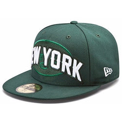 NEW ERA NEW YORK JETS 59FIFTY NFL DRAFT FITTED CAP HUNTER GREEN