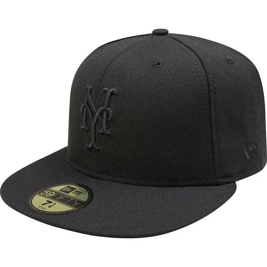 NEW ERA NEW YORK METS 59FIFTY MLB FITTED CAP BLACK