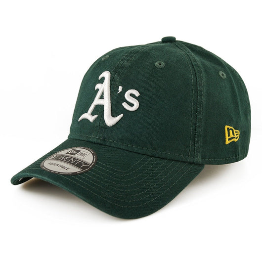 NEW ERA OAKLAND ATHLETICS 9TWENTY MLB CORE CLASSIC ADJUSTABLE BASEBALL CAP GREEN