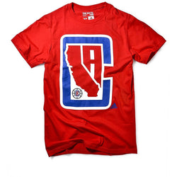 ADIDAS M LOS ANGELES CLIPPERS RED CLIPPERS STATE T-SHIRT RED