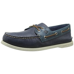 SPERRY M TOP-SIDER A/O TWO-EYE CROSS-LACE BOAT SHOE GREY/NAVY