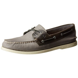SPERRY M TOP-SIDER A/O TWO-EYE CROSS-LACE BOAT SHOE GREY