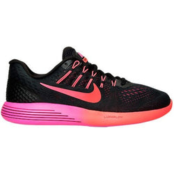 NIKE W LUNARGLIDE 8 RUNNING SHOE BLACK/MULTI-COLOR/NOBLE RED