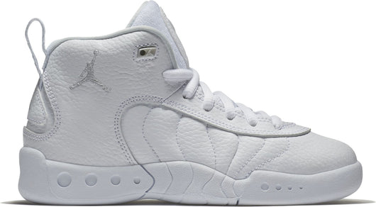 NIKE (LITTLE KID) JORDAN JUMPMAN PRO WHITE/PURE PLATINUM/METALLIC SILVER