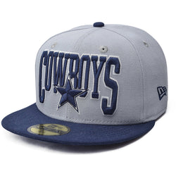 NEW ERA DALLAS COWBOYS 59FIFTY NFL FITTED CAP GREY/NAVY