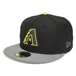 NEW ERA ARIZONA DIAMONDBACKS 59FIFTY MLB FITTED CAP BLACK/CYBER GREEN