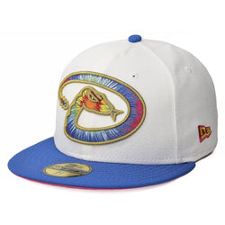 NEW ERA ARIZONA DIAMONDBACKS 59FIFTY MLB TWILIGHT TIE DYE STITCH FITTED CAP