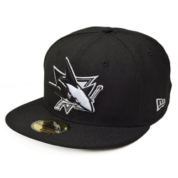 NEW ERA SAN JOSE SHARKS 59FIFTY NHL FITTED CAP BLACK