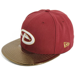 NEW ERA ARIZONA DIAMONDBACKS 59FIFTY MLB FITTED CAP METALLIC VISOR