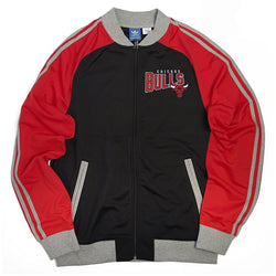 ADIDAS M CHICAGO BULLS NBA TRACK JACKET RED