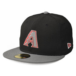 NEW ERA ARIZONA DIAMONDBACKS 59FIFTY MLB FITTED CAP BLACK/GREY