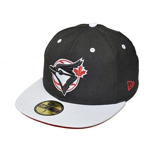 promo code 731bf 2f4d5 ... uk new era toronto blue jays 59fifty mlb fitted cap black white red  bottom dfbe8 7a597