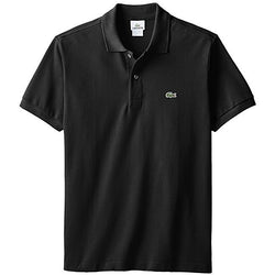 LACOSTE CLASSIC FIT SHORT SLEEVE PIQUE POLO SHIRT BLACK