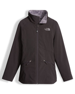 THE NORTH FACE G MOSSBUD SOFT SHELL JACKET GRAPHITE GREY