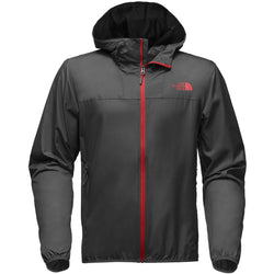 THE NORTH FACE M CYCLONE 2 HOODIE JACKET ASPHALT GREY/BAKED RED