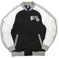 ADIDAS M BROOKLYN NETS NBA TRACK JACKET BLACK/WHITE