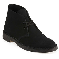 CLARKS M ORIGINALS DESERT BOOT BLACK SUEDE
