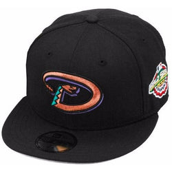 NEW ERA ARIZONA DIAMONDBACKS 59FIFTY MLB 2001 WORLD SERIES PATCH FITTED CAP
