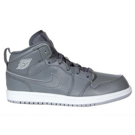 NIKE AIR JORDAN 1 MID (LITTLE KID) COOL GREY/WOLF GREY/WHITE