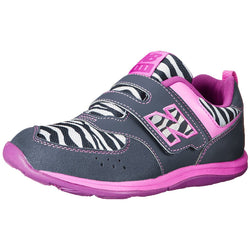 NEW BALANCE (LITTLE KID) HOOK AND LOOP UNIFORM SHOES GREY/PINK