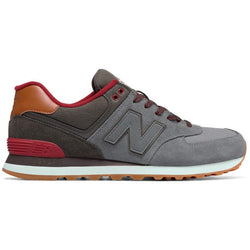 NEW BALANCE M 574 SHOES COLLEGIATE GUNMETAL/RAVEN/RED