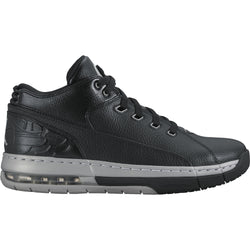 NIKE AIR JORDAN OL' SCHOOL LOW OFF-COURT SHOES M BLACK/METALLIC SILVER BLACK