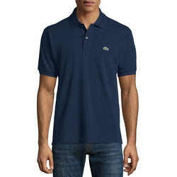 LACOSTE CLASSIC FIT SHORT SLEEVE PIQUE POLO SHIRT NAVY BLUE