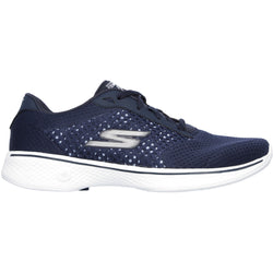 SKECHERS PERFORMANCE W GO WALK 4 EXCEED LACE-UP SNEAKER NAVY/WHITE