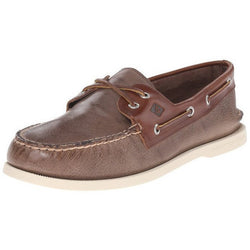 SPERRY M TOP-SIDER A/O TWO-EYE CROSS-LACE BOAT SHOE BROWN