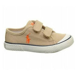POLO RALPH LAUREN CHAZ LACE-UP TODDLER SNEAKER TAN