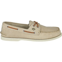 SPERRY M AUTHENTIC ORIGINAL 2-EYE PERFORATED BOAT SHOE CEMENT
