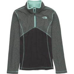 THE NORTH FACE G GLACIER 1/4-ZIP FLEECE PULLOVER TNF MEDIUM GREY HEATHER