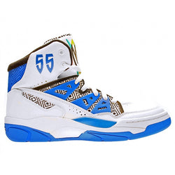 ADIDAS M MUTOMBO BASKETBALL SHOES WHITE/BLACK/BLUE