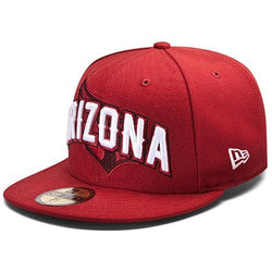 NEW ERA ARIZONA CARDINALS 59FIFTY NFL DRAFT CAP RED