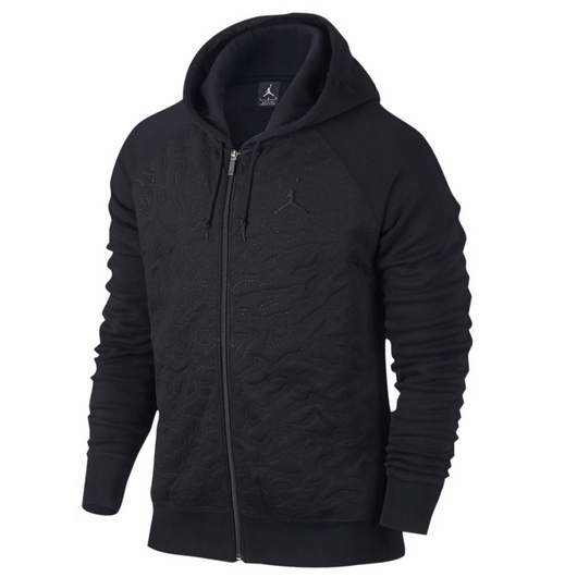 NIKE AIR JORDAN 3 FLEECE FULL ZIP HOODIE BLACK