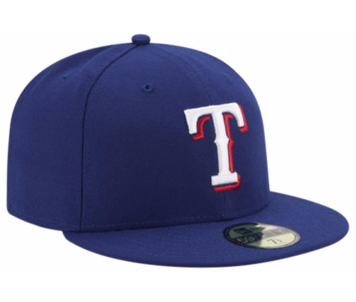 NEW ERA TEXAS RANGERS MLB 59FIFTY FITTED CAP NAVY