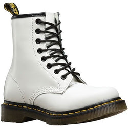 DR. MARTENS W 1460 8-EYE BOOT PATENT WHITE