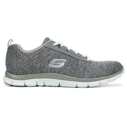SKECHERS W FLEX APPEAL NEXT GENERATION RUNNING SHOES GREY